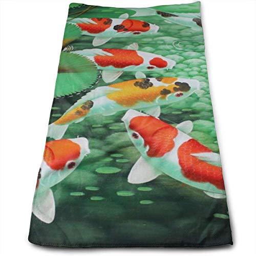 CGHD HD Japanisches Koi Fisch bedrucktes Handtuch, weiche hochsaugfähige große...