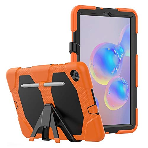 Fundas para tabletas Galaxy For la caja protectora de la PC colorida Silicio Samsung Galaxy Tab S6 Lite P610 a prueba de golpes con el soporte y la ranura de la pluma Fundas para tabletas Galaxy