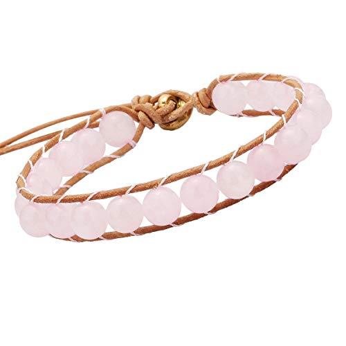 Infinity Love Massothérapeute main Palm charms en cuir tressé Bracelet