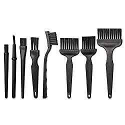 Hugesavings 8 in 1 Anti Static Brushes, Portable Plastic Handle Nylon Cleaning Keyboard Brush Kit for Computer and Small Spaces