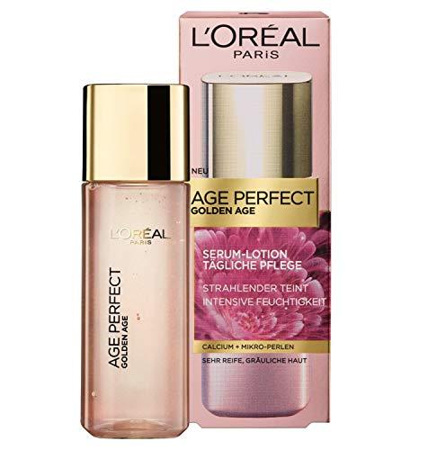 L'Oreal Paris Age Perfect Golden Age Serum, rosig-strahlender Teint & intensive Feuchtigkeit, Hautstraffendes Anti Age Gesichtsserum für reife Haut, 125 ml
