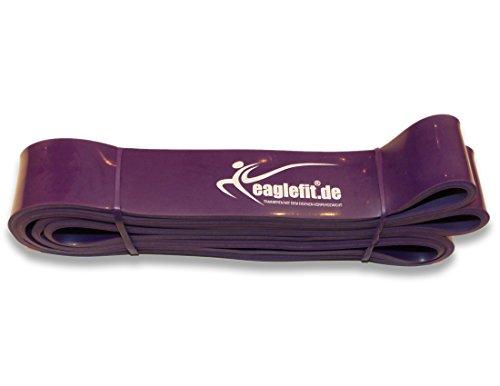 eaglefit Fitness-Band aus Naturlatex, Klimmzug-Hilfe und Krafttraining, lila, 20-55 kg
