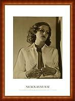 ポスター ニコラス ムレイ グレタ ガルボ 額装品 ウッドハイグレードフレーム(ナチュラル)