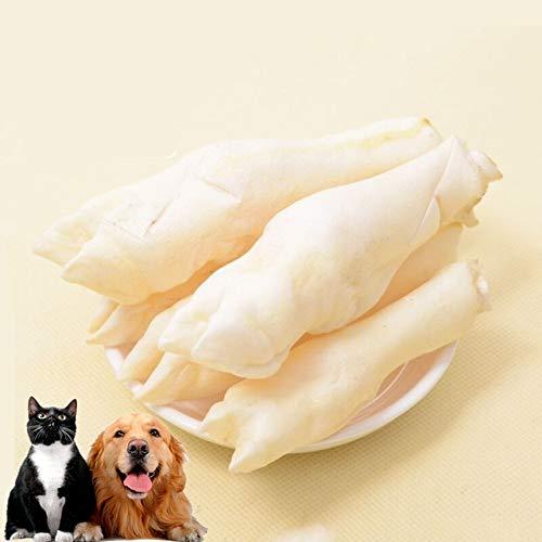 Lote Real Bone Juguete para mascotas Pequeñas pezuñas de cordero Aperitivos para perros Limpieza de dientes molares Contiene varios elementos Suministros para mascotas Accesorios 10 piezas S Blanco