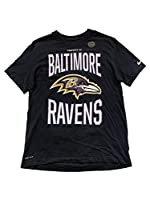 Nike Baltimore Ravens NFL Men's T-Shirts Short Sleeve Crew Neck T-Shirt (Large, Black AR5991)