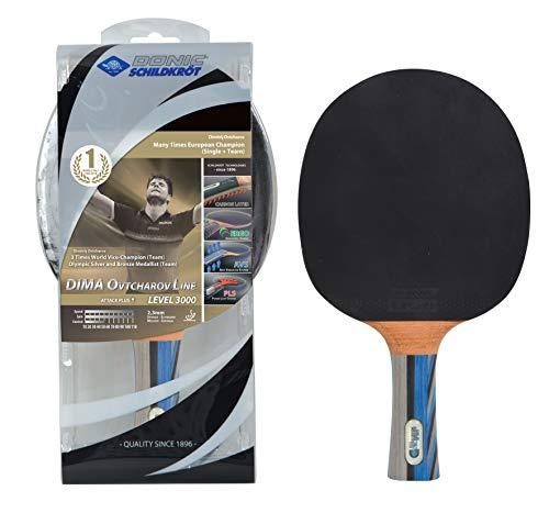 Donic-Schildkröt Raqueta de Tenis de Mesa Ovtcharov 3000, con Inserciones de Carbono, en Blister, 754400