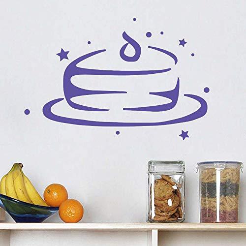 yiyiyaya Wandaufkleber Küche Restaurant Cafe Art Murals lila 44cm X 29cm