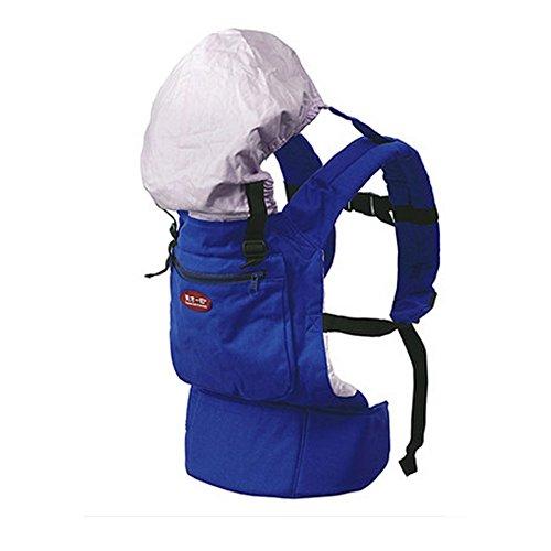 Populaire Coton bébé nouveau-né Carrier Infant réglable avec chapeau (Bleu)