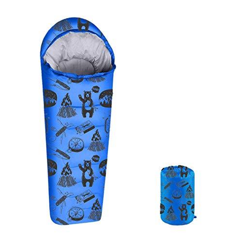 ANJ Outdoors Youth and Kids Sleeping Bag | 4 Season Indoor/Outdoor Boys and Girls Sleeping Bag |...
