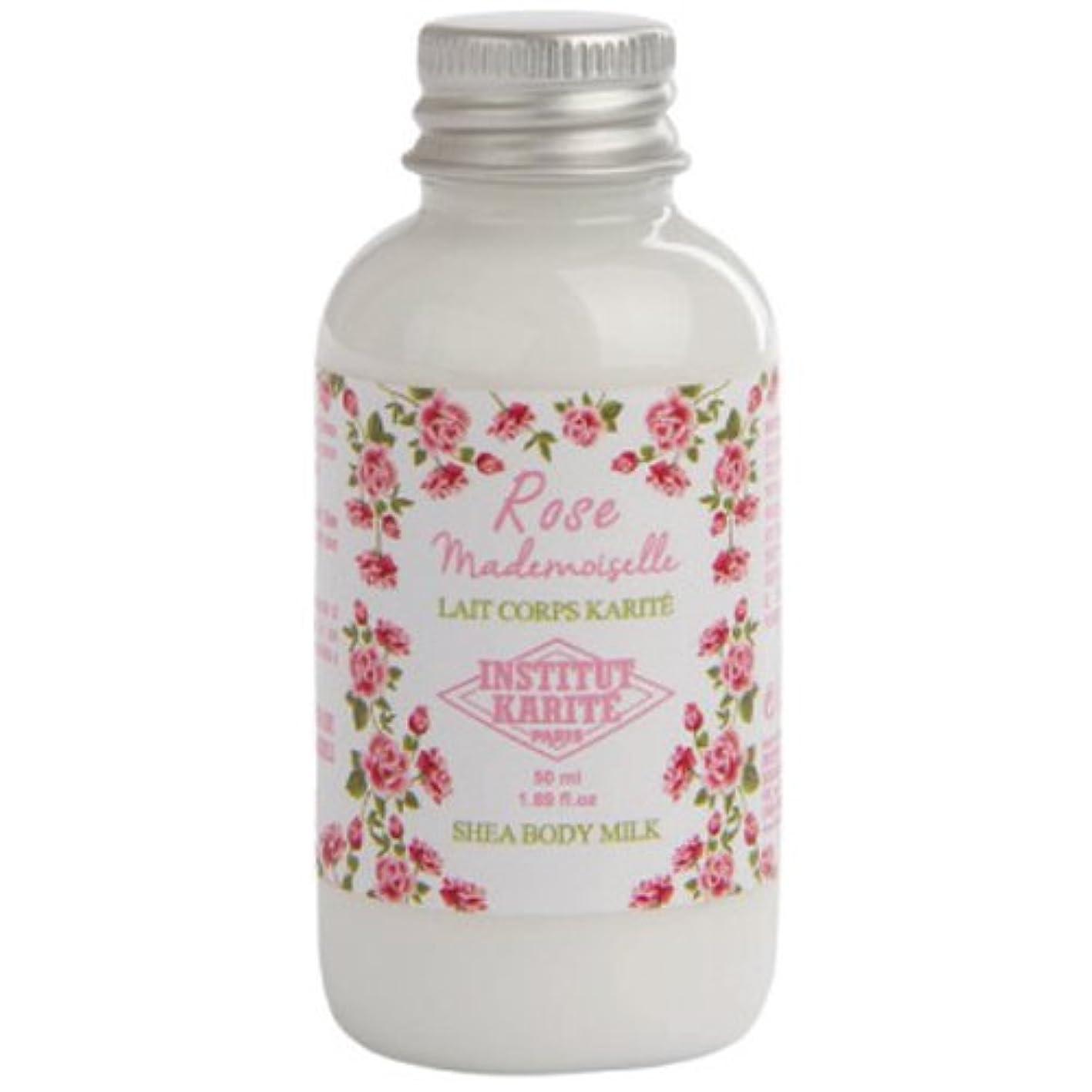 旧正月上向きトレイルINSTITUT KARITE カリテ Rose Mademoiselle クラシックローズ Travel Shea Body Milk 50ml