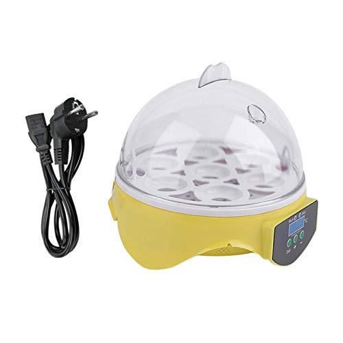 Incubadora de 7 Huevos Huevos Digitales para Aves de Aves Pollo Huevos Hatcher Enchufe de la UE - Transparente (Enchufe de la UE