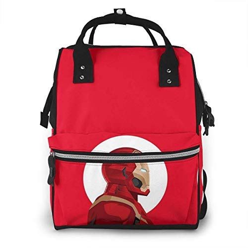 Diaper Bag Backpack - Iron Man Multifunction Waterproof Travel Backpack Maternity Nappy Changing Bags