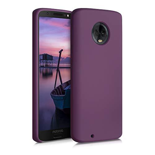 kwmobile Hülle kompatibel mit Motorola Moto G6 - Hülle Silikon gummiert - Handyhülle - Handy Hülle in Tawny Red