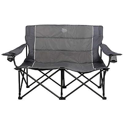 Timber Ridge Spruce Duo Loveseat Oversize Quad-Folding Camp Seat, Grey
