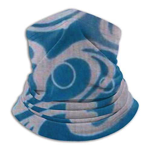 ShiHaiYunBai Tour de Cou Cagoule Microfibre Chapeaux Tube Masque Visage, Lobster Wave Fleece Neck Warmer - Reversible Neck Gaiter Tube, Versatility Ear Warmer Headband & For Men And Women