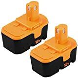 Fhybat for Ryobi 18v Battery Replacement ONE+ P100 P101 ABP1801 ABP1803 BPP1820 130224007 High Capacity Cordless Power Tools 18 Volt Batteries 2 Packs