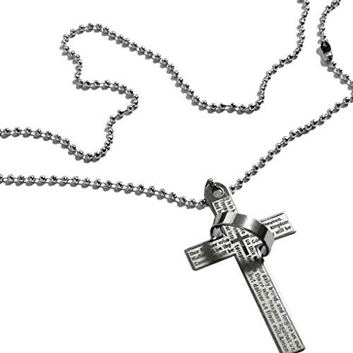 Mingtongli Sencillo anillo de collar colgante de acero inoxidable collar Niños Diseño joyería de la cadena del cuello de los hombres