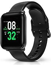 Smartwatch, BlitzWolf IP68 Waterdichte Slim Horloge Fitness Tracker Sporthorloge Intelligent Polshorloge 1,3 inch HD-scherm met Hartslagmeter, Stappenteller, Slaapmonitor voor iPhone Android