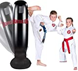 GEMGO Inflatable Punching Bags 63' Free Standing Boxing Bag Kicking Bags for Immediate Bounce Practicing Karate, Taekwondo and to Relieve Pent Up Energy for Kids and Adults