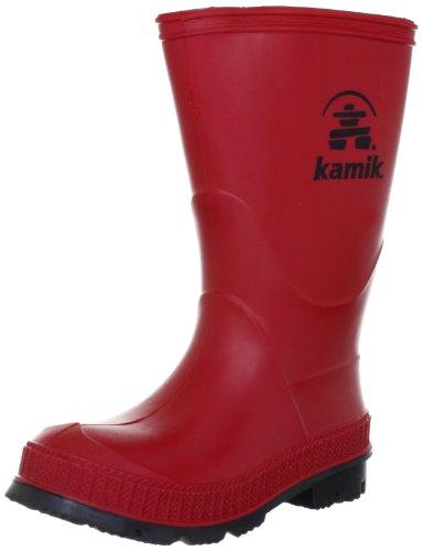 Kamik STOMP/KIDS/PUR/4149F Rain Boot Red,4 M US Big Kid