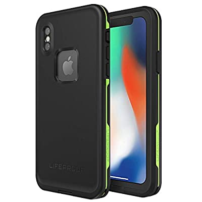 Lifeproof FR? SERIES Waterproof Case for iPhone X (ONLY) - Retail Packaging - NIGHT LITE (BLACK/LIME)