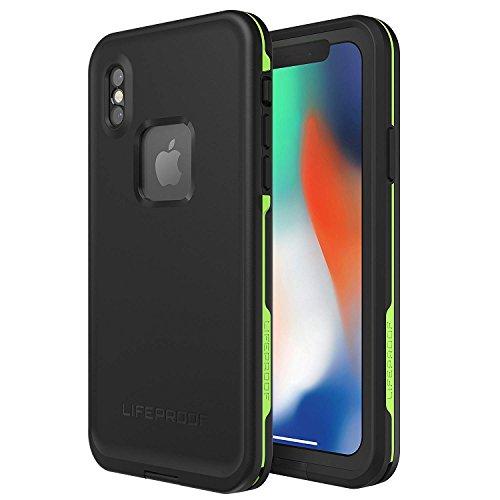 LifeProof FRĒ SERIES Waterproof Case for iPhone X (ONLY) - Retail Packaging - NIGHT LITE (BLACK/LIME)