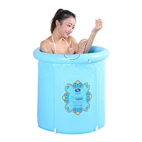 Aufblasbare Badewanne faltbare Badewanne tragbare Isolierung Badewanne für Erwachsene Badewanne aus Kunststoff Whirlpool Badewanne Whirlpool Familienbadezimmer ( Color : Blue , Size : 58*65cm )