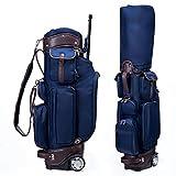 LANGWEI Bolsas para Carrito De Golf para Hombres, Bolsa De Transporte para Carrito De Golf con Ruedas/Asa Incorporadas, Bolsa De Transporte Pesada Azul...
