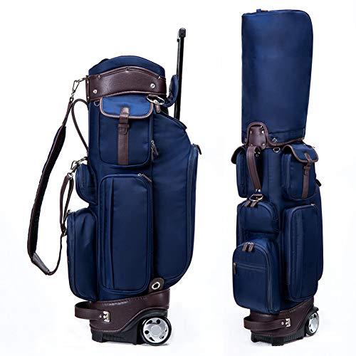 LANGWEI Bolsas para Carrito De Golf para Hombres, Bolsa De Transporte para Carrito De Golf con Ruedas/Asa Incorporadas, Bolsa De Transporte Pesada Azul Divisor De 6 Vías para Campo De Golf