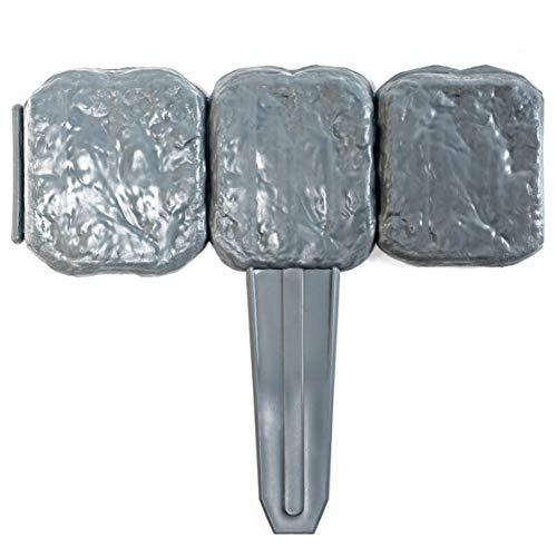 UPP® bordura para bancal de jardín I valla, cercado delimitador de césped I borde limitador de cantero, color piedra natural (10 unidades)