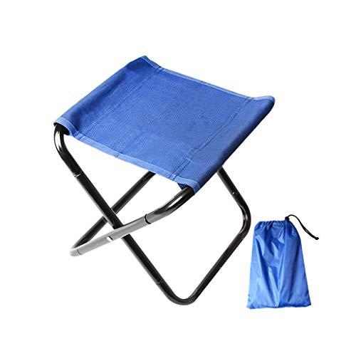 FH Tabouret Pliant De Loisirs en Plein Air, Portable Et Facile À Ranger Petit Banc De Train De Chaise d'art D'étudiant d'art 24 × 24 × 31 Cm, Bleu