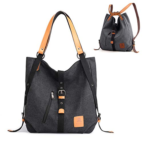 Chikencall 3 ways Women's Canvas Purses And Handbags Backpack Totes Shoulder Bags Western Vintage Casual Hobo Handbags Crossbody Bag For Ladies