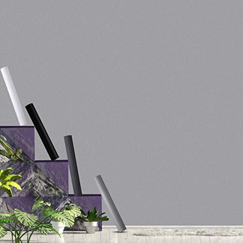 KINLO verdickte PVC Küchenfolie hellgrau Selbstklebende Möbelfolie 40 x 300 cm ohne Glanz Klebefolie matt Tapeten Oberflächenschutz wasserdicht Anti Schimmel für Möbel Arbeitsplatte Wände Tür Schrank