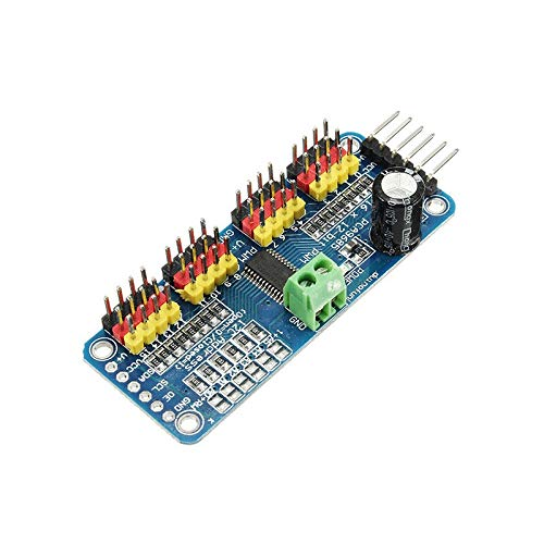 XUSUYUNCHUANG 2PCS PCA9685 16-Channel 16CH 12-bit PWM Servo Motor Driver I2C Module For Arduino Robot RC Drone Drone Accessories (Color : 2PC)