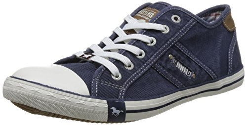 MUSTANG Herren 4058-305-800 Sneaker, Blau (Dunkelblau 800), 44 EU