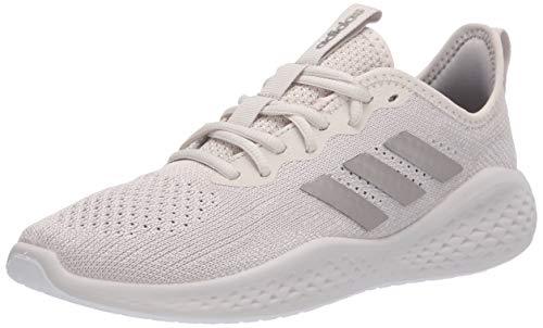 adidas womens Fluidflow Running Shoe, Alumina/Platino Met Chalk Pearl, 6.5 US