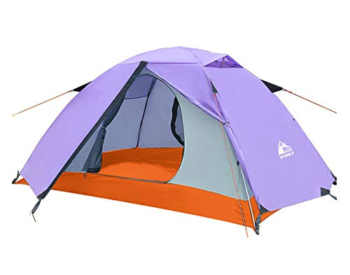 Mdsfe Hewolf Outdoor Professional Double-layer Tent Wild Snow Mountain Camping Equipment Multi-Person Ultra-light Snow Skirt Tent 2.8g-purple