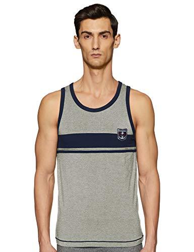 Macroman M-Series Men's Vest (MARINE21_Grey Melange_M)