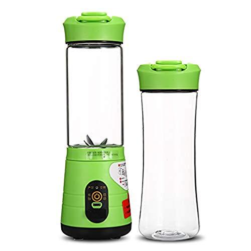 Barir Tragbare Entsafter Mixer, Haushalts Fruit Mixer - 380ml Fruchtmischmaschine mit USB-Ladekabel for Superb Mischen, USB Juicer Cup (Color : Green)
