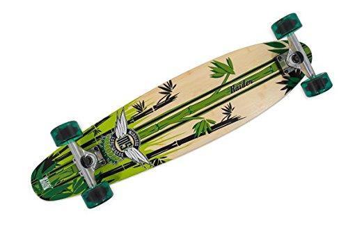 Mindless Voodoo Complete Longboard Raider II Green - Kicktail Profi Longboard 34 x 8 inch