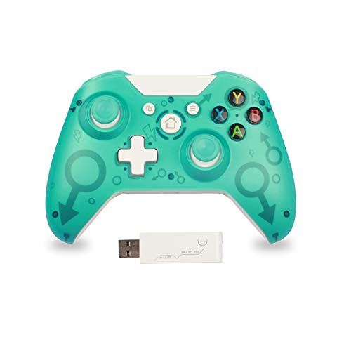 Mando para PC Mando para Xbox One Mando Inalámbrico Compatible con Xbox One/PS3/PC 2.4G Wireless Gamepad Joystick Inalámbrico(Verde)