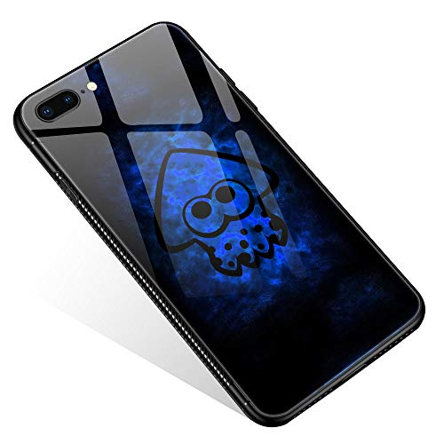 iPhone 8 Case,Tempered Glass iPhone 7 Cases iPhone SE 2020 Cases Splatoon Blue Nebula for Women Girls Boys, Pattern Design Shockproof Anti-Scratch Case for Apple iPhone 7/8/SE2