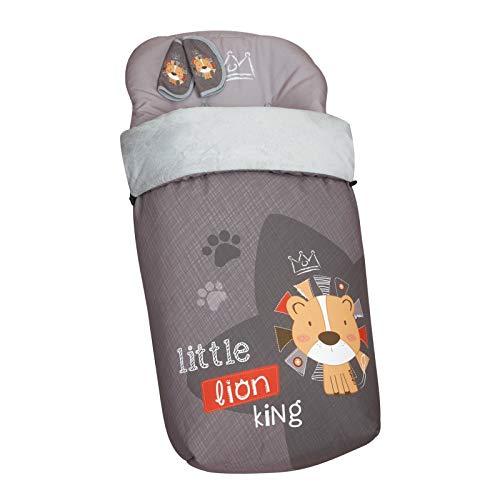 Babyline Lion - Saco De Silla Con Cubre Arnés De Regalo, Gris