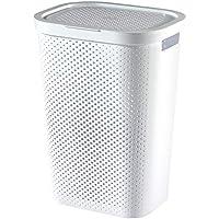 Curver 231007 - Cesta de la ropa Infinity 59 L, 41.7 x 33.1 x 58.2 cm, color blanco