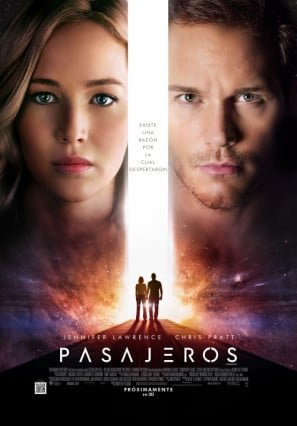 Passengers - Jennifer Lawrence – Argentinian Movie Wall Poster Print - 43cm x 61cm / 17 Inches x 24 Inches A2