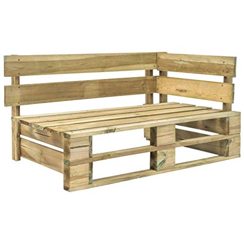 Photo of vidaXL Garden Pallet Corner Bench Wood Outdoor Patio Yard Sofa Chair Seating