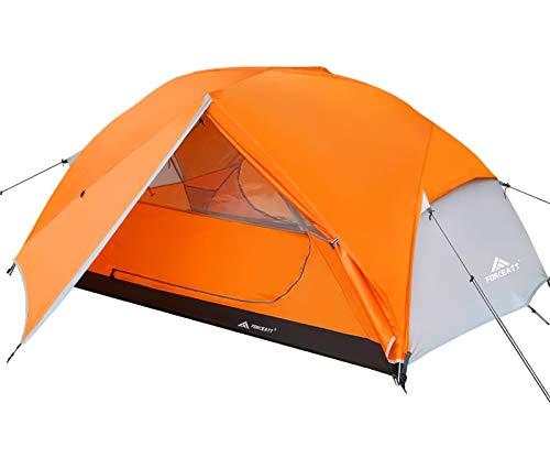 Forceatt Zelt 2 Personen Camping Zelt, 2 Doors Wasserdicht & Winddicht 3-4 Saison Ultraleichte Rucksack Zelt für Trekking, Camping, Outdoor.