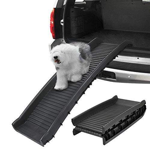 ZENY Bi-Fold Pet Ramp for Dog and Cat Ramp Great for Trunk Back Seat Ladder Step Car SUV