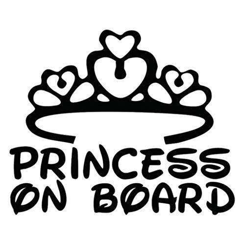Geshiglobal Fashion Princess On Board Stampa Paraurti Auto Safety Warning Decal - Nero