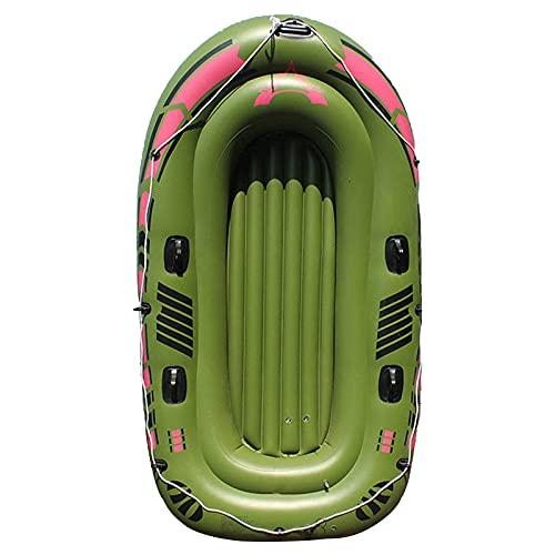 QSKL Barco de Kayak Inflable para 1-2 Personas, balsa Inflable, Barco de Pesca Barco de Kayak con remos de Aluminio, Cuerda, Parche de reparación y Bomba de Aire,2 Person